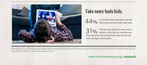 Common Sense Media and fake news and kids