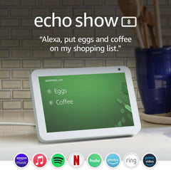 Echo Show smart screen from Amazon, shows available apps