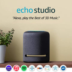 Echo Studio smart speaker with available apps