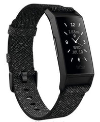 Fitbit Charge 4, black face, gray band