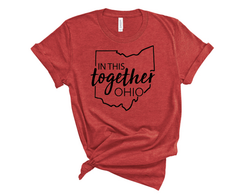 In this together Ohio tee - Governor Mike DeWine quote - shirt for Ohio 2pm press conference - SALT effect