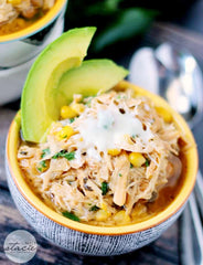Slow Cooker Verde Chicken Chili from Simply Stacie