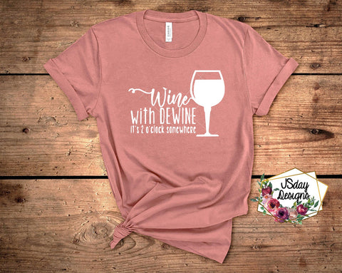 Wine with DeWine tee - shirt for Ohio 2pm press conference - SALT effect