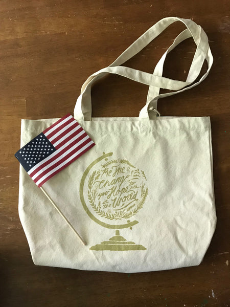 Be the Change Canvas Bag by Sevenly - SALT effect