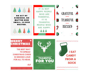 24 Christmas Lunchbox Notes {INSTANT DOWNLOAD} - SALT effect