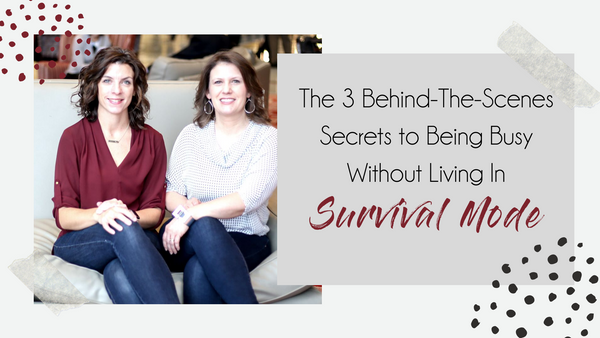 FREE WEBINAR: 3 Behind-The-Scenes Secrets to Being Busy Without Living In Survival Mode - SALT effect