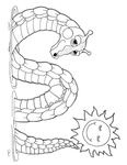 Ogopogo Colouring Sheet