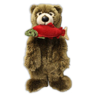 Grizzly Bear with Salmon Stuffy