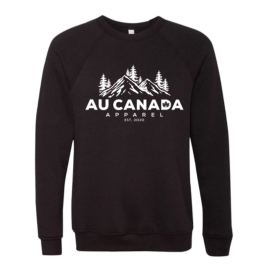Black Au Canada Apparel Crewneck