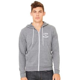 Heather Grey 'Love for Kelowna' Zip Hoodie