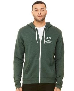 Forest Green 'Love for Kelowna' Zip Hoodie