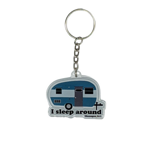 'I Sleep Around' Keychain