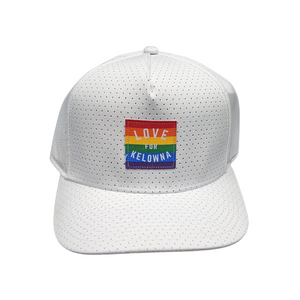 White Perforated 'Love for Kelowna' Pride Hat