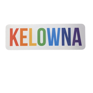 'Kelowna' Rainbow Vinyl Sticker