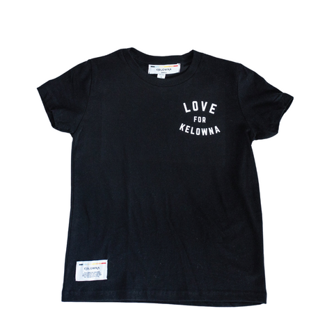 Black 'Love for Kelowna' Kids' T-Shirt