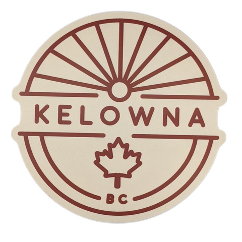 'Kelowna' Maple Leaf Vinyl Sticker