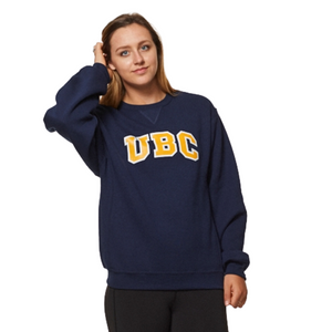 Navy/Gold UBC Basic Arch Screen Crewneck