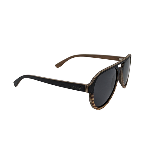 Dark Wood Aviator Sunnies