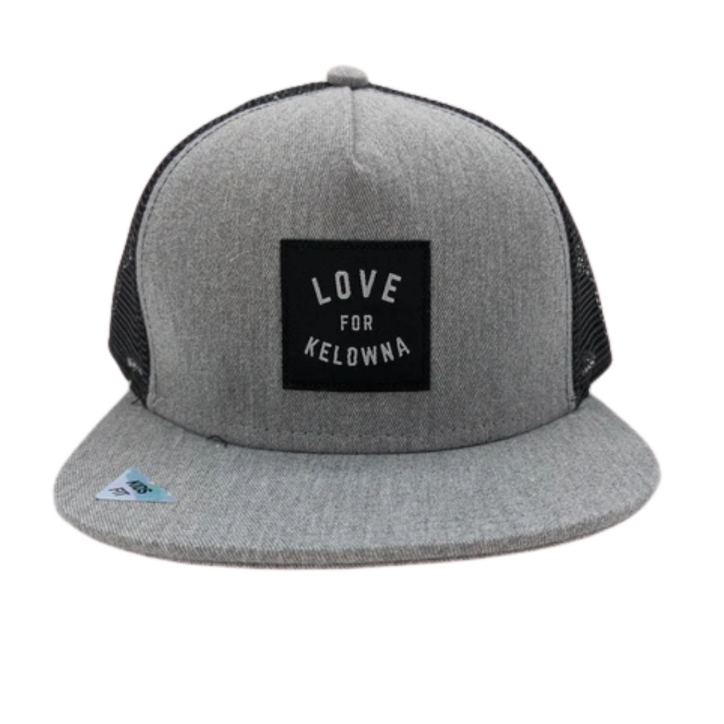 Grey/Black 'Love for Kelowna'  Kids' Trucker Hat