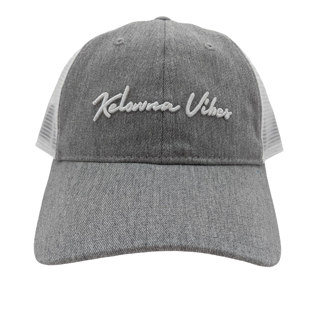 Grey/White 'Kelowna Vibes' Trucker Hat