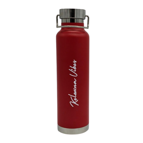 Red 'Kelowna Vibes' 22 oz Hot/Cold Bottle