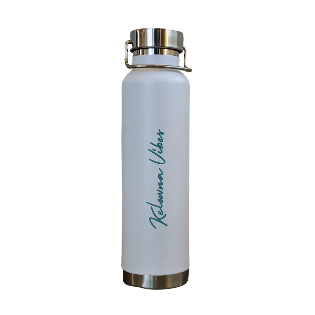 White/Blue Kelowna Vibes' 22 oz Hot/Cold Bottle