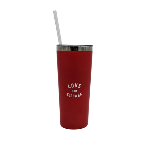 Red 'Love for Kelowna' 22 oz Insulated Tumbler