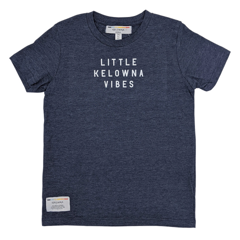 Heather Navy 'Little Kelowna Vibes' Kids' T-Shirt