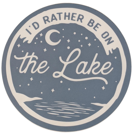 I'd Rather Be On The Lake Vinyl Sticker