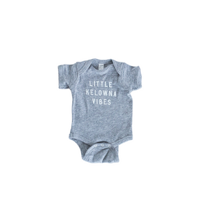 Athletic Grey 'Little Kelowna Vibes' Baby Onesie