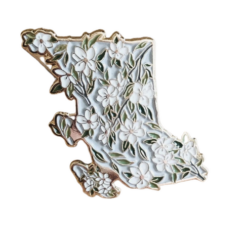 BC Pacific Dogwood Enamel Pins - Natasha Vanderburg Co.