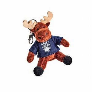 UBC Moose Stuffy Keychain
