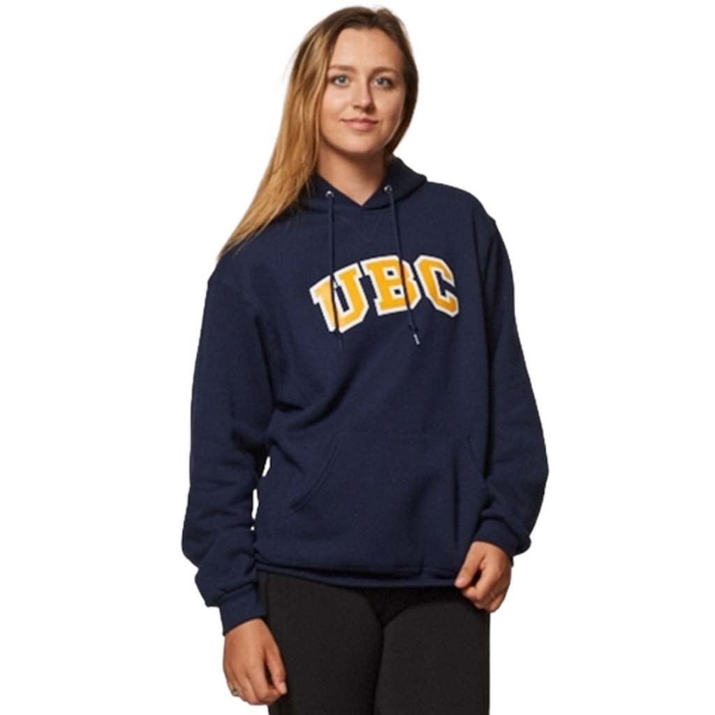 Navy/Gold UBC Basic Arch Screen Hoodie