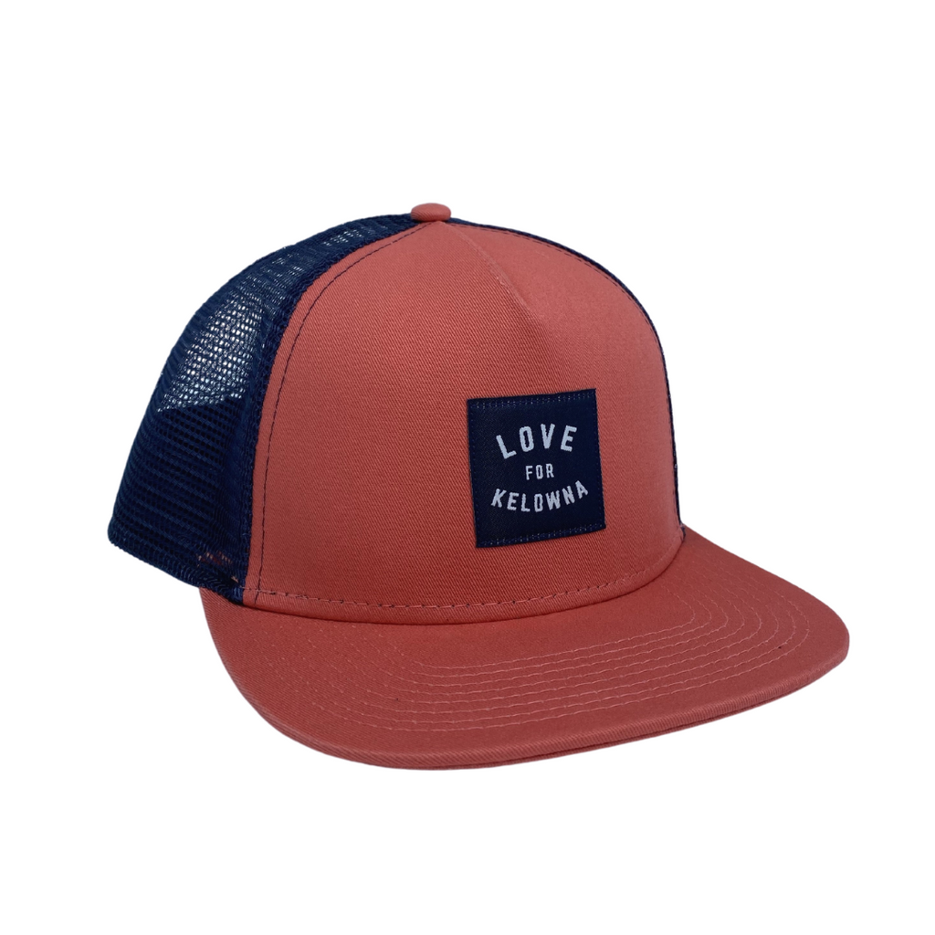 Mango/Navy 'Love for Kelowna' Trucker Hat