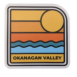 'Okanagan Valley' Wave Sunset Vinyl Sticker