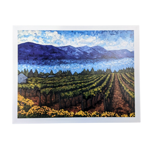 Vineyard with Yellow Flowers - Cynthia Gunsinger Print
