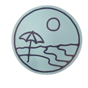 Beach Umbrella Vinyl Sticker