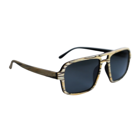 Light Wood Aviator Sunnies