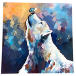 "'Oh Hey Bear' Original 24""x24"" Canvas Painting by Sarah Lewke"