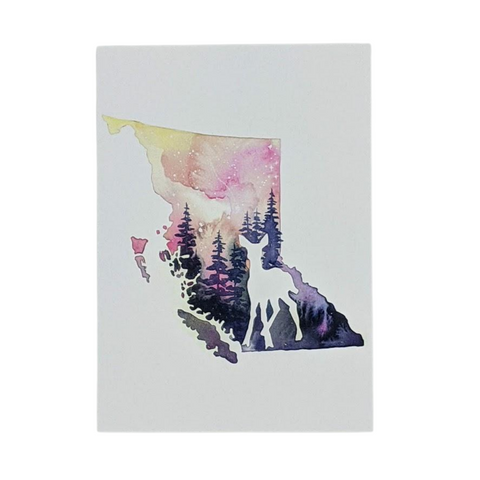 "Deer in BC 5""x7"" Greeting Card by Sarah Lewke"