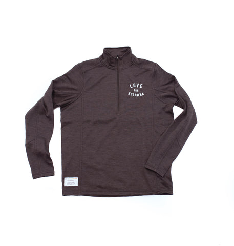 Black 'Love for Kelowna' 1/2 Zip Pullover