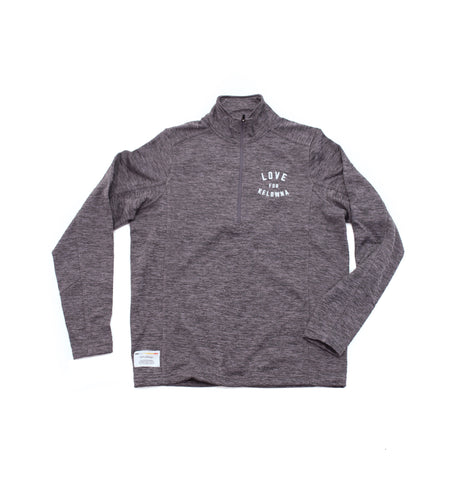 Charcoal 'Love for Kelowna' 1/2 Zip Pullover