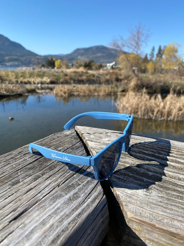 Blue 'Kelowna Vibes' Wheat Straw Sunglasses