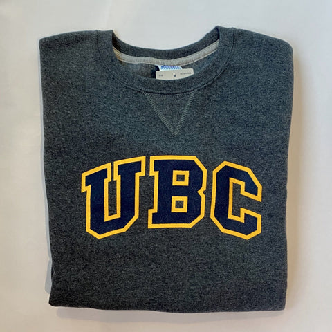 Charcoal/Gold UBC Basic Arch Screen Crewneck