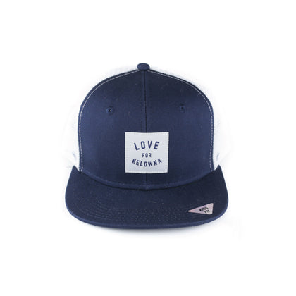 Navy/White 'Love for Kelowna'  Kids' Trucker Hat