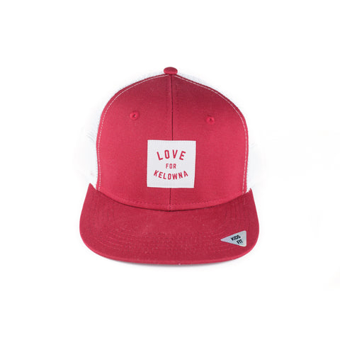 Red/White 'Love for Kelowna' Kids' Trucker Hat
