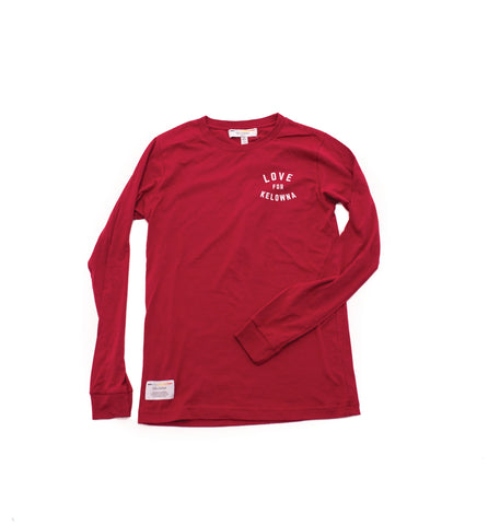 Cardinal Red 'Love for Kelowna' Long Sleeve