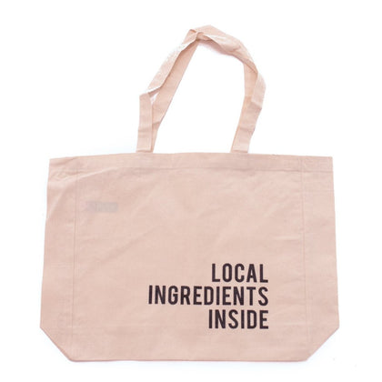 'Local Ingredients Inside' Canvas Tote Bag