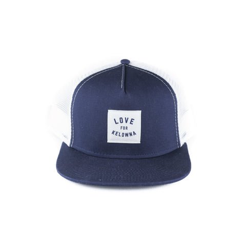 Navy/White 'Love for Kelowna' Trucker Hat