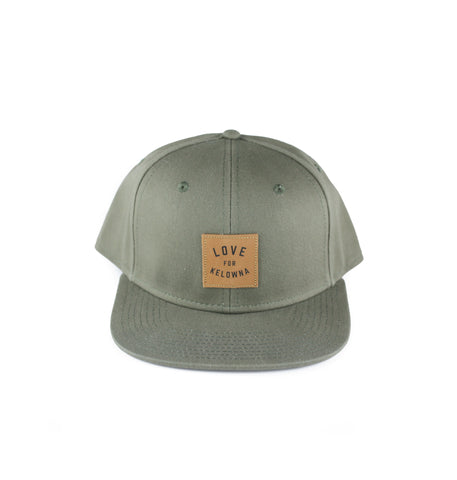Olive 'Love for Kelowna' Snapback Hat
